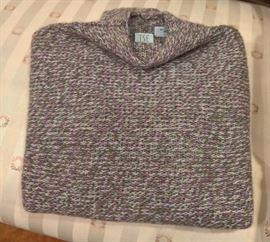 3V  - TSE  Cashmere Sweater  Purple and Green   Size M