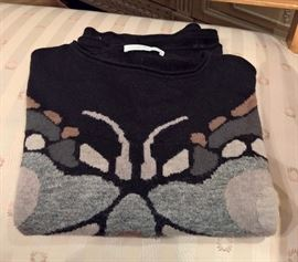 3V  - Les Copains Black Cashmere with Butterfly Sweater