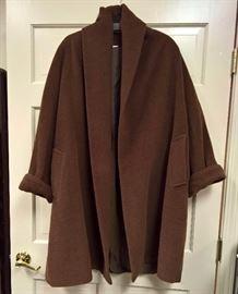 3V  - Max Mara    Brown Alpaca/Mohair/Wool Coat     Made in Italy   Size 2