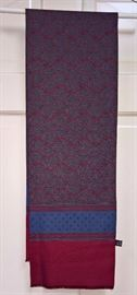 3V  - Silk Scarf in Red and Blue Paisley