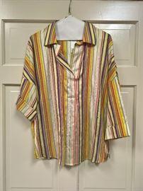 3V  - Akris & Punto for Saks  Silk Blouse   Size 12