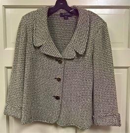 3V  - St. John Herringbone Short Blazer  Size 12