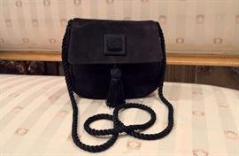 3V -- Desmo for Saks  Black Small Suede Bag