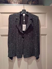 3V  - Armani   - Black Sparkle Blazer  New  Size 14