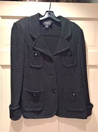 3V  - St. John Caviar  Black 4 pocket Black Blazer           Size 10