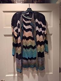 3V  - Missoni  Sweater and Sleeveless Shell  Zig Zag Pattern   Size 6