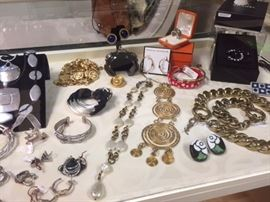 Designer Jewelry: Chanel, Hermès, YSL, and others.