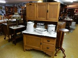 Hoosier style antique cupboard with all the bells and whistles