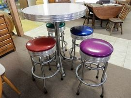 High top 5 pc. colorful chrome set. Ready to use