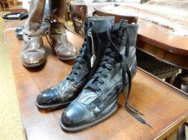 antique high button shoes
