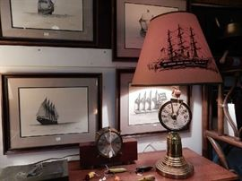 Lots of unique nautical items.