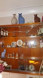 Lots of Decorative items and Wall Mount Cabinet