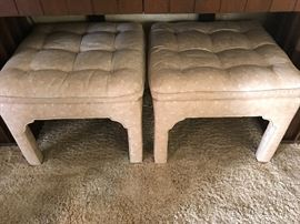 two matching ottomans