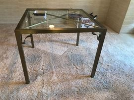 Master craft Brass and glass Dining  table