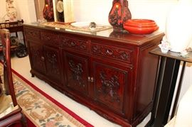 Ornate rosewood buffet