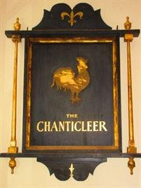 Original Sign of The Chanticleer Restaurant, located in Siasconset, circa 1930-1940