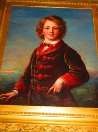 Continental Oil on Canvas of and Aristocrat Child, Painting is of the Finest Quality, Mid-Late 19th C.