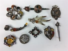 Antique Silver & Agate  Jewelry