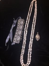 More costume jewelry--Do you notice the 4 FOOT length of Real pearls