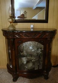 Glass front Display Cabinet and Mirror