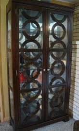 Lighted Curio Cabinet with Circle front