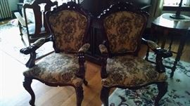 **ORNATE** BEAUTIFUL FRENCH PROVINCIAL SIDE CHAIRS (2) ...MUST SEE !!!