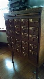 OLD LIBRARY CATALOG CABINET (2)