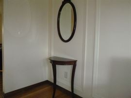 Bombay Half Round Table and Mirror  http://www.ctonlineauctions.com/detail.asp?id=652356