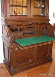 showing inside of Victorian Renaissance Desk.