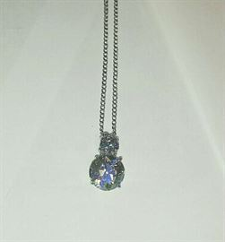 Diamond pendant necklace - approx. 4.18 total carats - (3.58 carats main stone) by appointment only