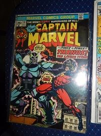 12 & 15 cent comics, boxes of other comics