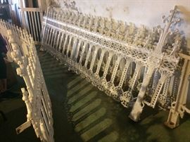 Ornate Antique Iron Fencing, Approx. 60-70 Feet total