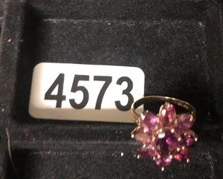 14K PINK TOURMALINE RING