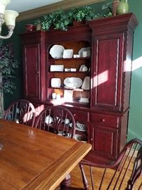 Great Breakfront Cabinet perfect for dish display and storage.