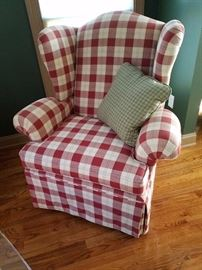 Great country or Country French buffalo check Wing Chair
