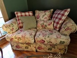 Another view of this beautiful floral sofa