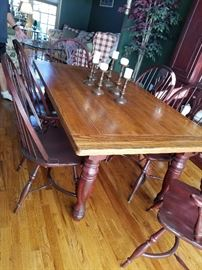 Gorgeous Dining Room Table and Chairs with just that look you see in  Country Living and other magazines.