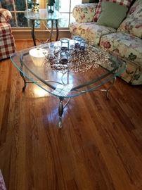Great iron coffee table.