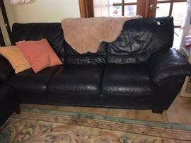 Navy sofa
