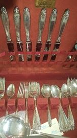 International Silver  Sterling Silver 54 Pieces  Approximately 2700 Grams