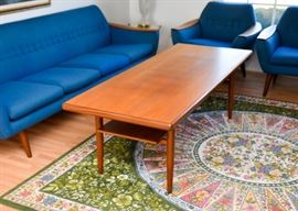 BUY IT NOW! Lot #303, Mid Century Modern Tall Teak Cocktail / Coffee Table, $225