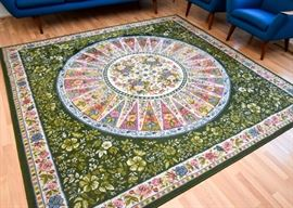 Pretty Colorful Floral Area Rug