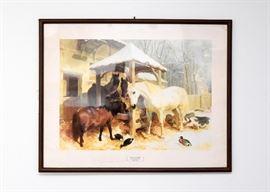 Framed Horses Print