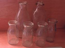 Old Slug Plate Milk Bottles Brevard, N.C.