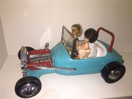 Vintage Barbies with Hot Rod