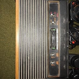 VINTAGE ATARI GAME SYSTEM WITH GAMES