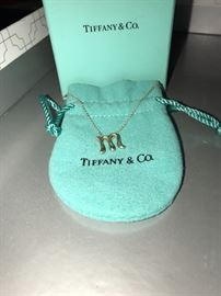TIFFANY & CO LETTER M NECKLACE