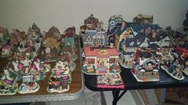 Loads of Christmas Village pieces, all sizes