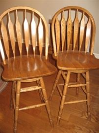 Oak Bar Stools...