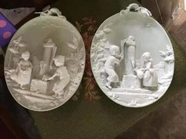 German figurine plates